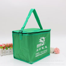 Gots Oekotex 100 Promotional PP Coated Custom Printed Recycled Eco TNT Grocery Handle Portable Aluminium Foil Ultrasonic Ice Bag