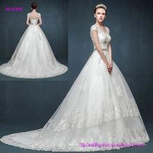 China Factory Direct Vintage Retro Tasche Schulter V-Ausschnitt Brautkleid