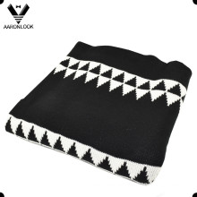 2016 Fashion 100% Acrylic Geometry Jacquard Blanket for Winter