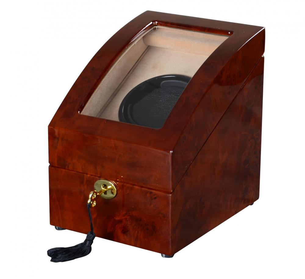 Ww 8221 Coffe Wood Watch Winder With Lock