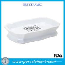 Porte-savon en céramique blanc design personnalisé