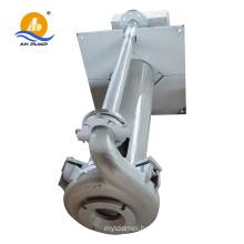 Vertical belt driven sump rubber slurry pump