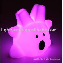 2011 Chambre en plastique colorée a mené la lumière de nuit d'enfants