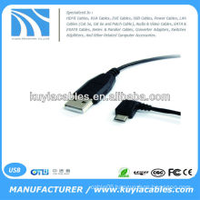 USB 2.0 A-Male to Left 90 degree Angle Micro-B Male Cable