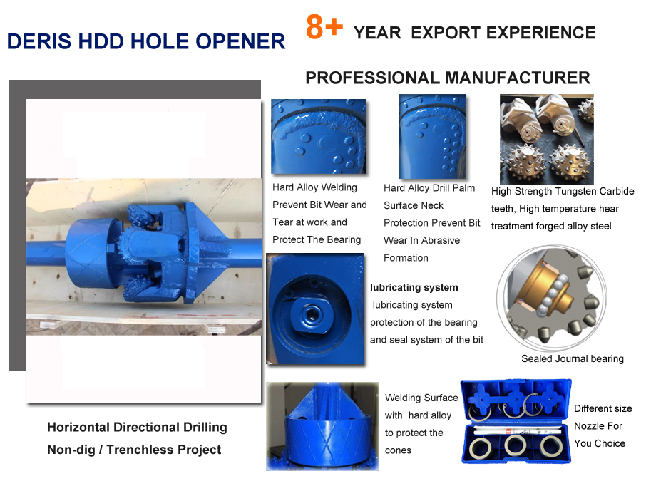 tricone hole opener