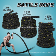 """TOP MANILA ROPE 1-1/2"""" X 50 FT. FITNESS / UNDULATION Wth SHIRK END CAPS F2-1021"""