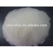 Enthaarte und gekrempelte chinesische Lammwolle weiß 17.5mic / 30-32mm