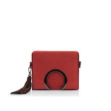 Must-Have Gun Metal Ring Accent Bag Sac à bandoulière en daim en cuir Wzx1088