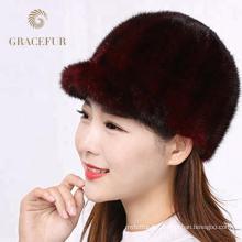 Qualité assurée hiver chapeaux de fourrure de style russe pour les dames