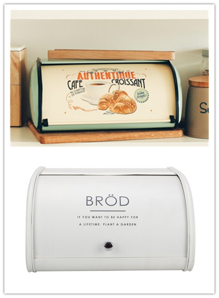 White Bread Bin with Roll Top