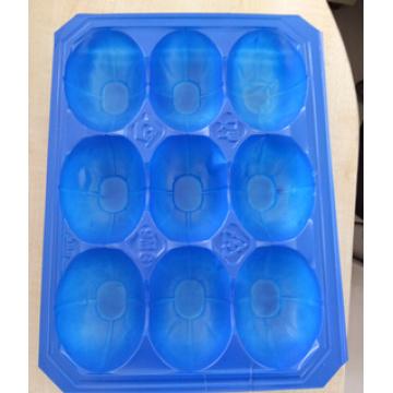 Plateau d'emballage blister en plastique bleu de 29X38.5cm PP pour la mangue