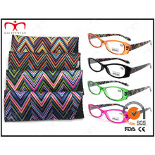 Ladies Fashion Plastic Eyewear Eyewearframe Reading Glasses with Pouch (MRP21661)