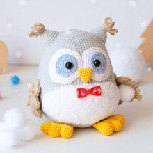 Patrón de búho de juguetes de ganchillo súper lindo