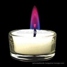 Colored Flame Tea Light Candle