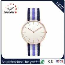 Reloj de oro de galjanoplastia del acero inoxidable de gama alta de la venta caliente