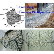 8x10cm pvc enduit galvanisé gabion tissé matelas ou boîte ou panier ou un mur