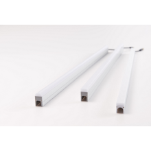 Luz linear de perfil de alumínio com barra de cabine embutida LED