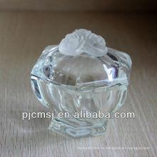 Красивый кристалл ювелирные изделия стеклянная баночка для украшения или подарок