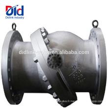 Principe de fonctionnement du clapet anti-retour à disque basculant Api6d en acier inoxydable de pompe à eau à cartouche chimique