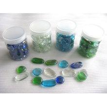 Formas de cristal decorativas, pepitas de cristal, mosaico de guijarros de vidrio