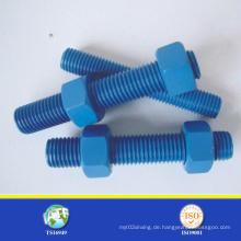 SGS-Bolzen mit blauer PTFE-Beschichtung
