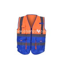 custom logo biocolor reflective vest new design