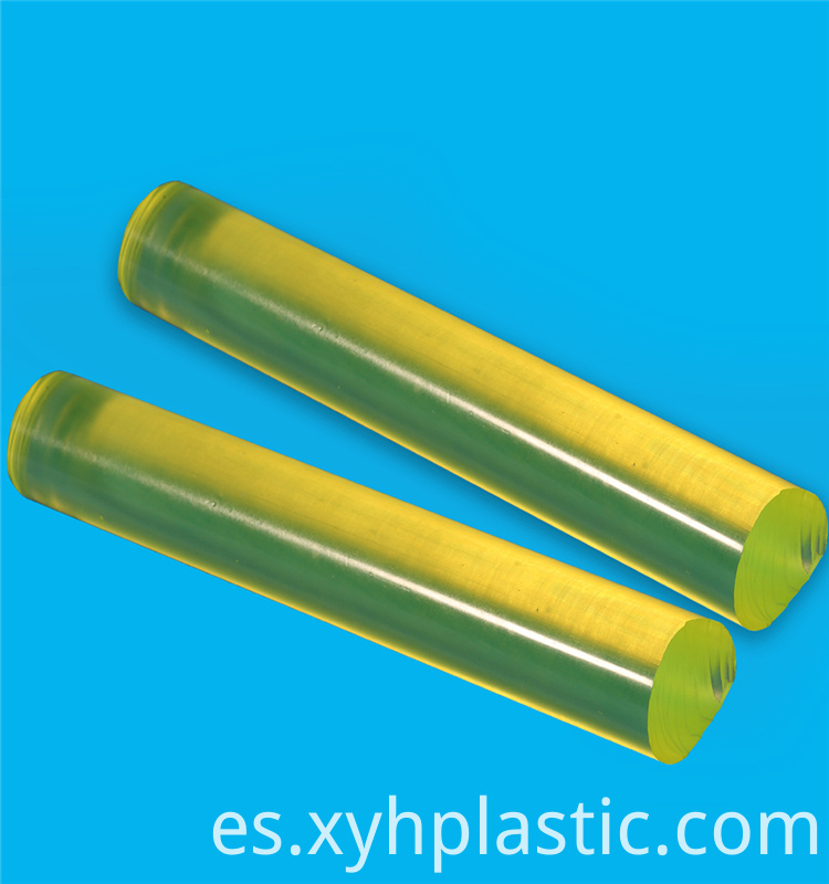 Yellow Clear PU Round Bar