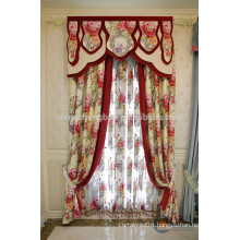 Made to order fancy valance curtain with flower patterns