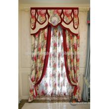 Feito a pedido cortina de valência extravagante com padrões florais