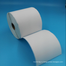 тепловые пустой белый этикетки наклейка штрих-ролл