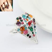 Bague de diamant réglable en mode anneaux de fiançailles indiens uniques