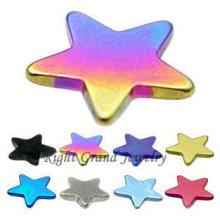 Rainbow Anodized 316L Steel Star Skin Diver Top