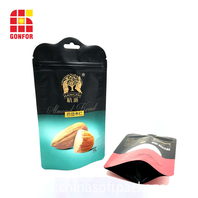 Shaped Plastic Stand Up Pouch For Nuts Packaging3