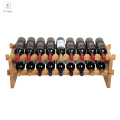 18 bottles bamboo material wine rack