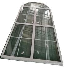 factory price aluminium fixed  arc window design