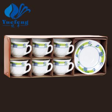 Heat Resistant Opal Glassware-Coffee Cup Set