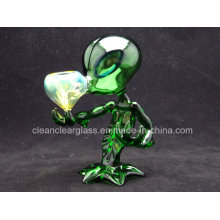 Wholesale High Quality Green G Spot Glass Smoking Pipes Alien Design Glass Hand Pipes