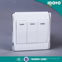 Igoto British Standard elektrische Licht Wandschalter 3 Gang 1 Way