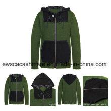 Manteau tricoté 100% cachemire et chamois pour homme