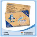 Cartes d'adhésion de code-barres en plastique transparent
