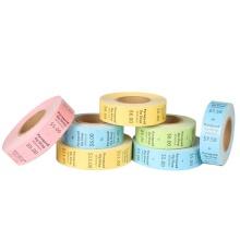 Rouleau d'étiquettes volantes de vêtement en papier d'art enduit