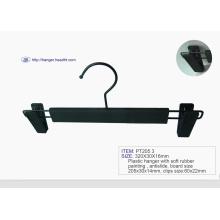 Promotion Wholesale Plastic Black Pant Hanger with Clip