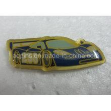 Baixo custo de aço inoxidável offset impresso lapela pin emblema (badge-109)