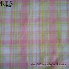 Tissu teint par fil de popeline de coton teint avec Lurex pour des chemises / robe Rls32-10po