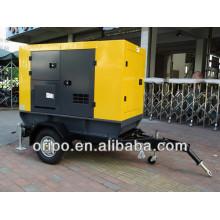 50hz diesel generator set with cummins engine trolley/trailer type open/silent type