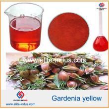 Corante de alimento natural Pó amarelo do Gardenia