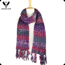 Trendy Colorful Acrylic Iceland Yarn Space Dye Scarf