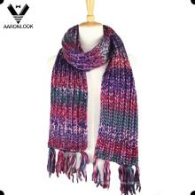 Trendy colorido acrílico Island hilados Space Dye bufanda