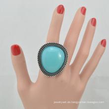 VAGULA 2016 Mode Silver Plating Türkis Fingerring
