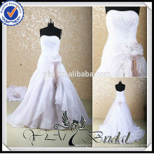 RSW456 Wholesale Pink And White Wedding Dresses With Detachable Train